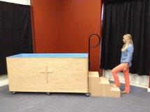 Portable Baptistry step 1
